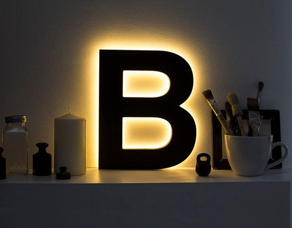 Freestanding Initials Wooden Rustic Led Light Up Letters Letter Lights Wedding Initials Marquee Letters Wall Mo Wooden Light Light Up Letters Light Letters