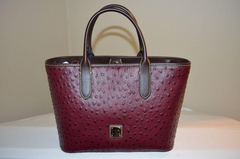 f0adaf85c NWT $228 Dooney & Bourke Brielle Small Satchel Burgundy Brown Ostrich  Leather #DooneyBourke #Satchel