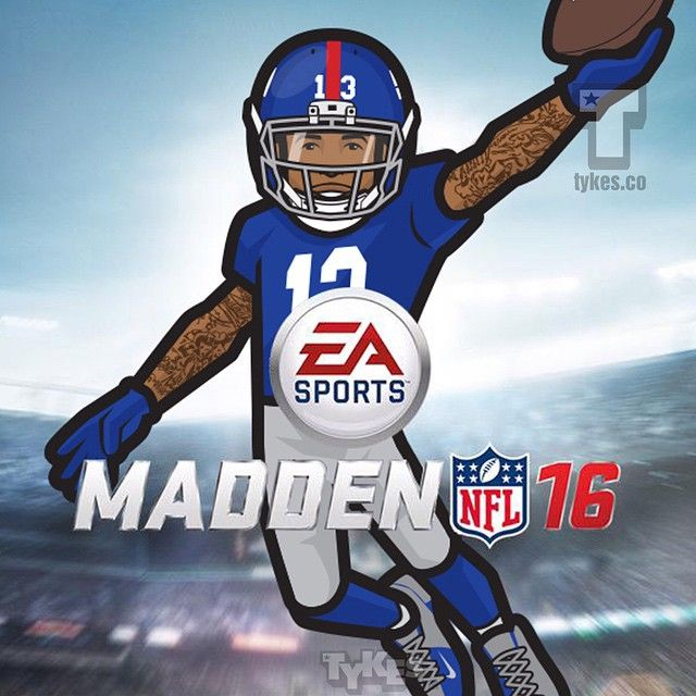 Odell Beckham Jr Madden 16 Coverboy Tyke Obj Beat Out Rob