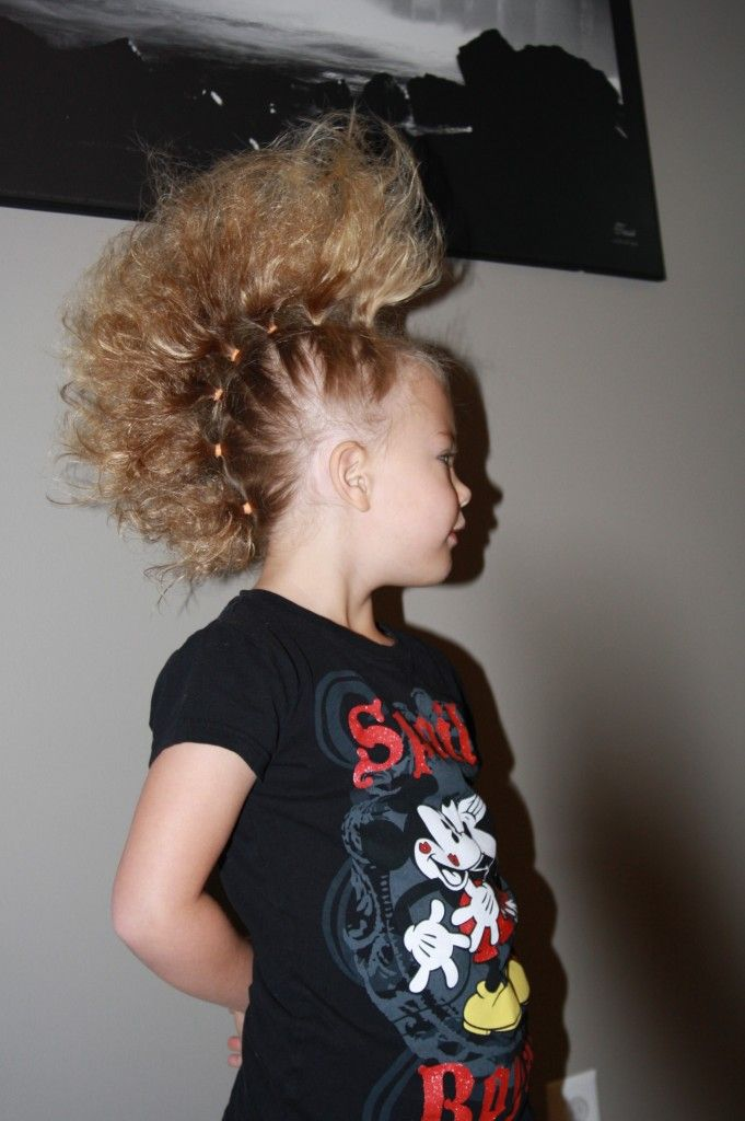 Crazy Hair Day Hairstyle Click Pic For How To Tutorial Crazy