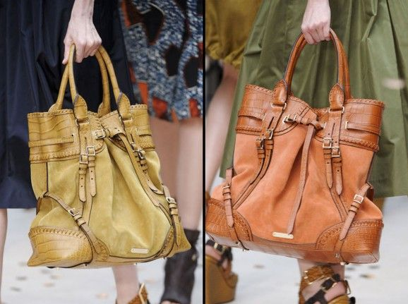 Tote Bag Burberry Prorsum Handbags at London Fashion Week Spring 2012 578x431 Luxury Handbags by Burberry Prorsum Shown at London Fashion Week Spring 2012