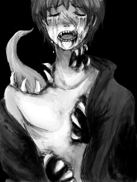 Guro anime boy horror creepy pain