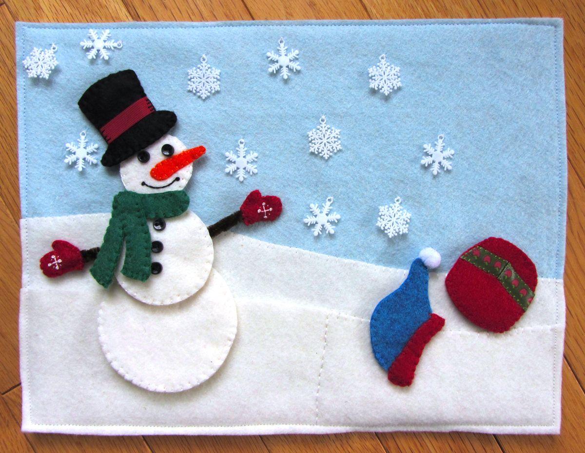 Новогодняя открытка своими руками для школы из фетра