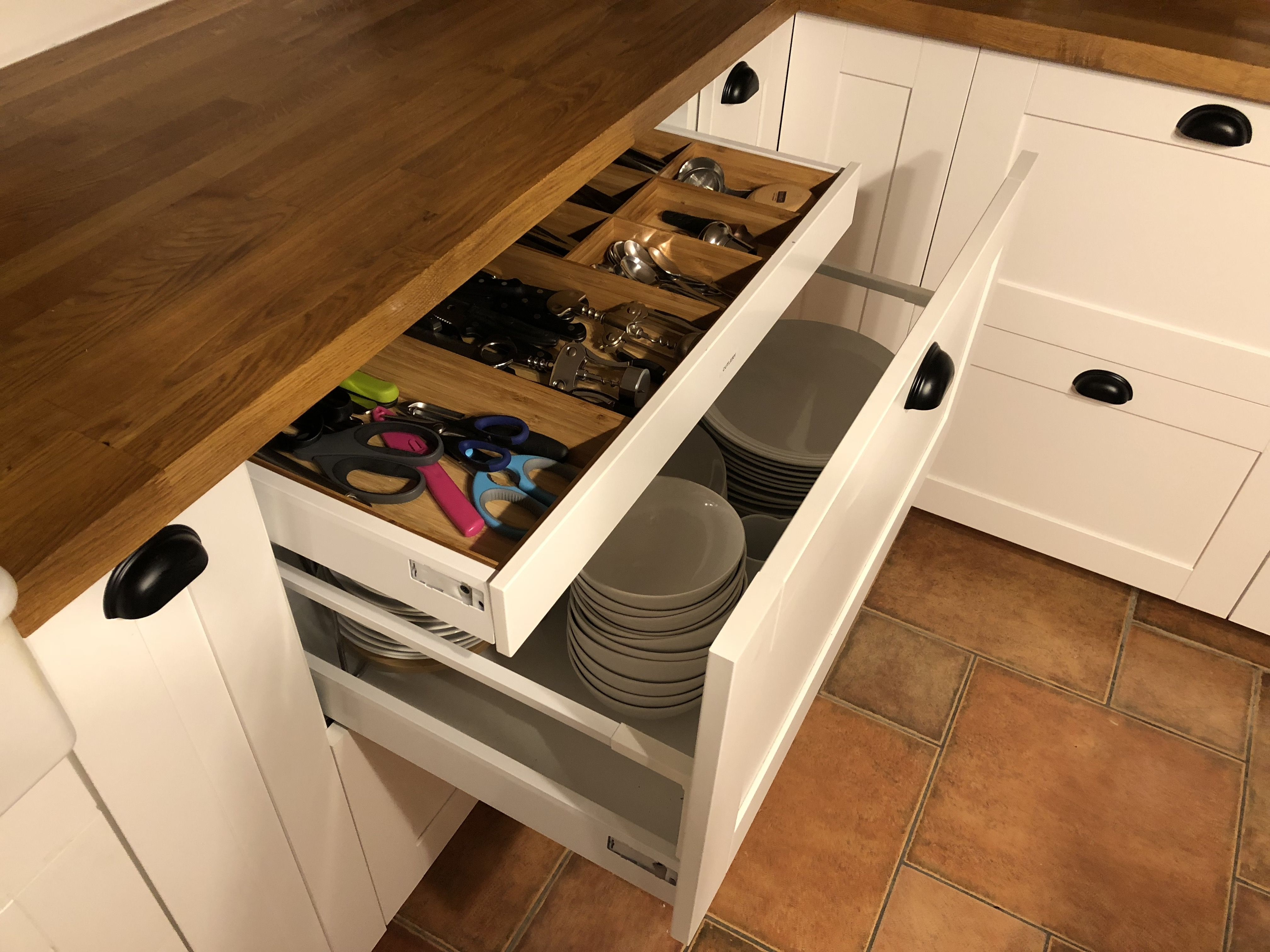 Ikea Large Drawers With Smaller Drawer Inside For Cutlery Large Drawers Kitchen Cupboards Small Drawers