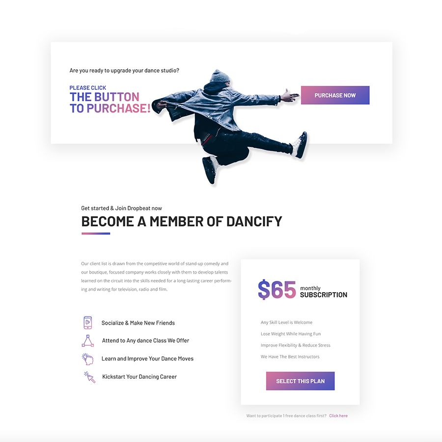 Dropbeat Dance Studio Creative Psd Template Studio Dance