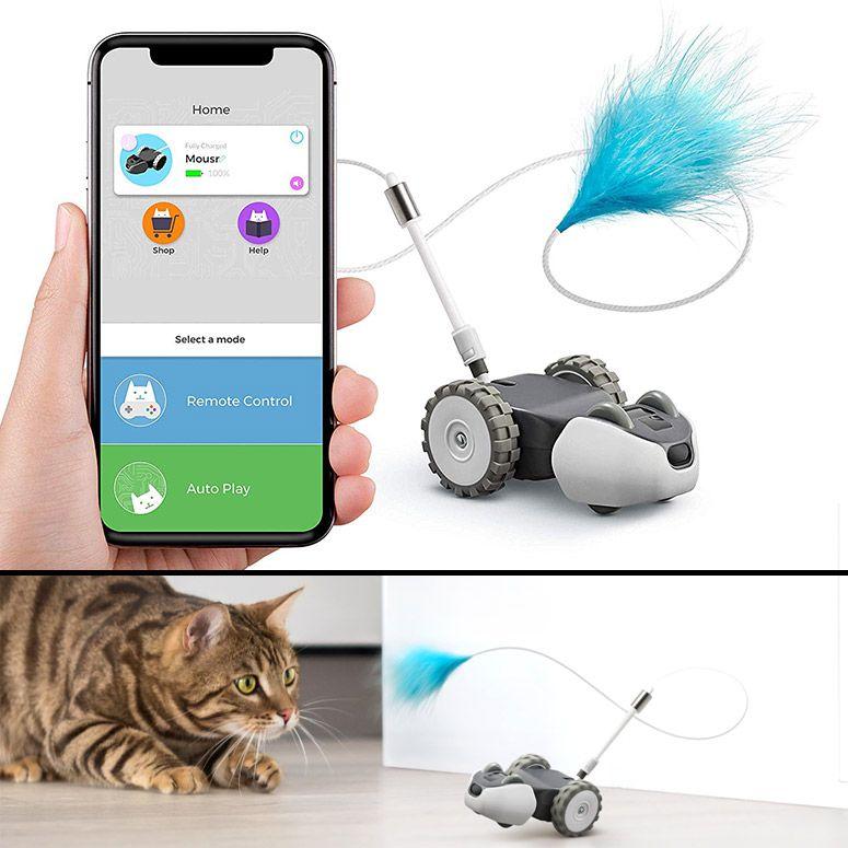 Mousr appcontrolled robotic interactive cat toy