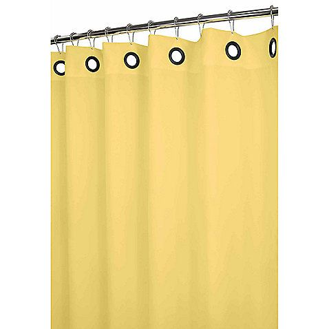 I could use this pale yellow shower curtain to create an anchor