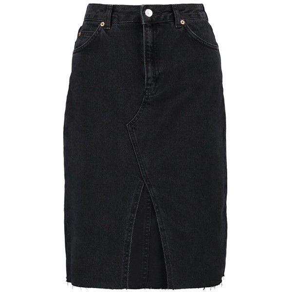 1fdd1bc89472 Topshop MIDI SKIRT Jeanskjol ❤ liked on Polyvore featuring skirts, calf  length skirts, midi skirts, denim skirt, knee length denim skirt and  mid-calf ...