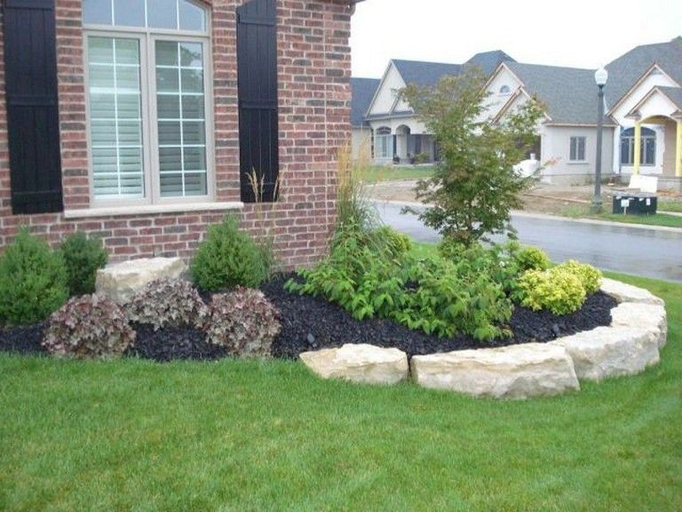 43+ Front of house landscaping ideas with rocks ideas