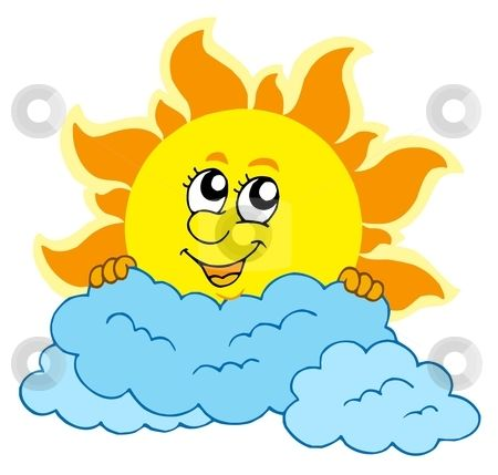 cute cartoon sun with clouds stock vector pogoda pinterest rh pinterest ca  free sun and clouds clipart