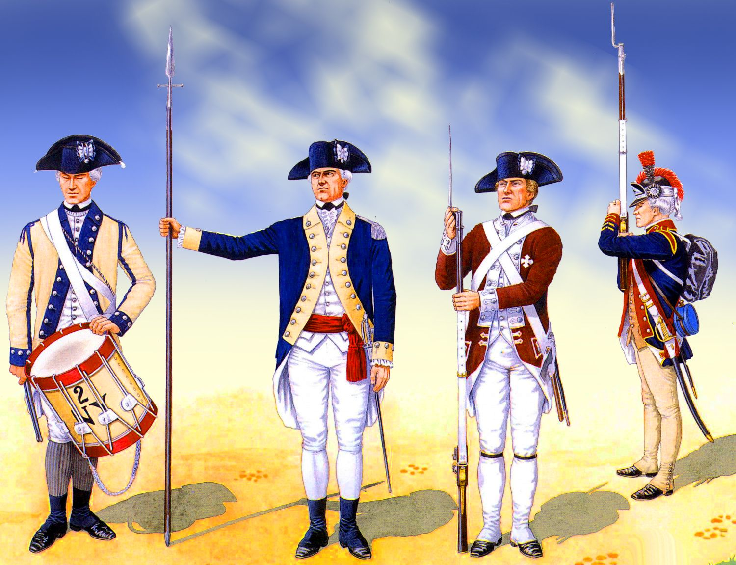 New Hampshire Regiment with Pennsylbanian and New York Regiments