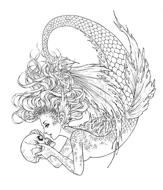 siren pages coloring pages