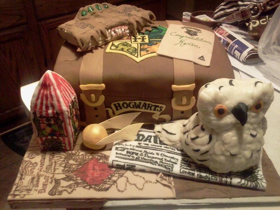 All Edible Harry Potter Graduation Cake