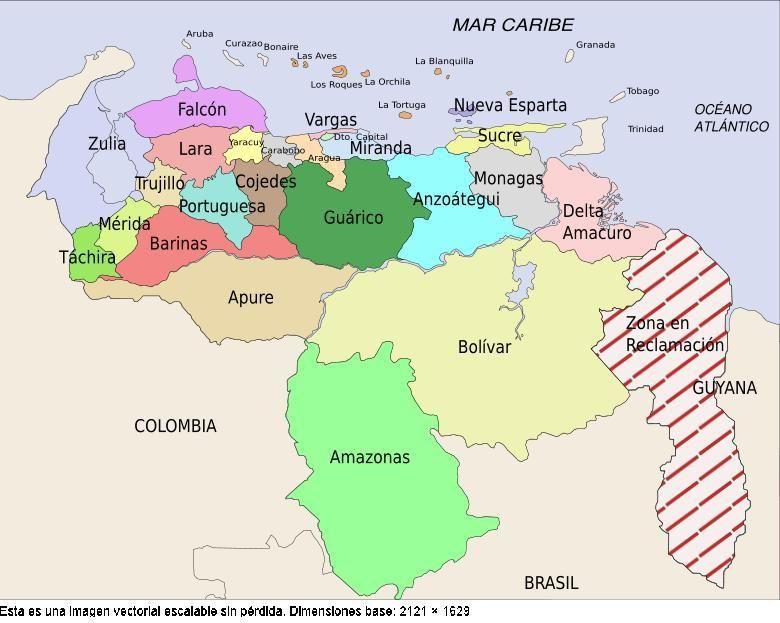 mapa de venezuela con puntos cardinales - Buscar con Google