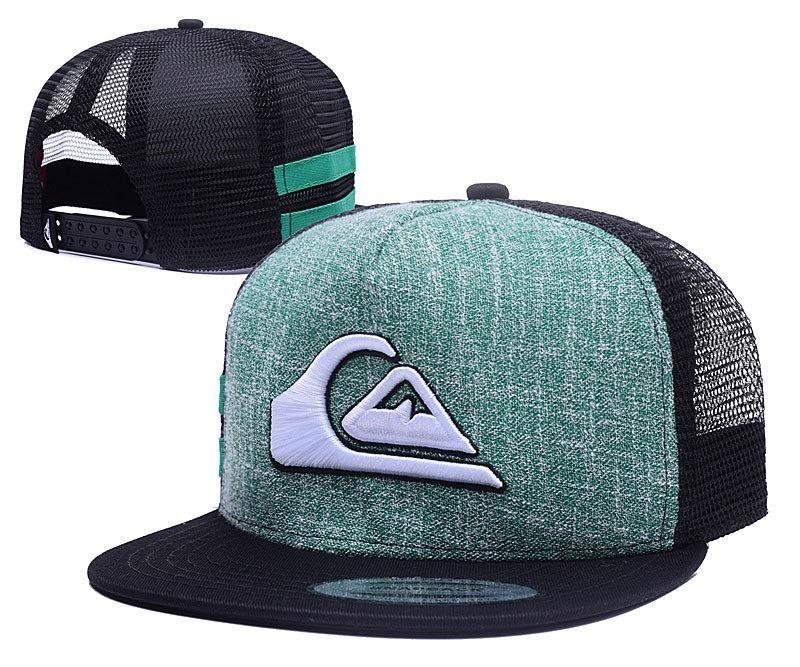 b7aa7cb7 Men's Quiksilver Keeper Fantastique Mesh Back Summer Fashion Trucker  Snapback Hat - Green / Black