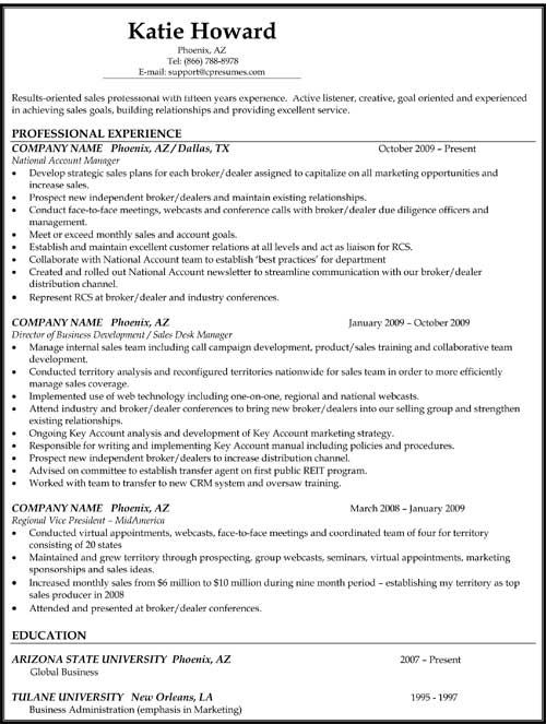 Reverse Chronological Resume Format Work Pinterest Resume