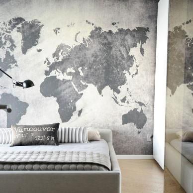 Art world map mural grey success pinterest art world map mural grey gumiabroncs Images