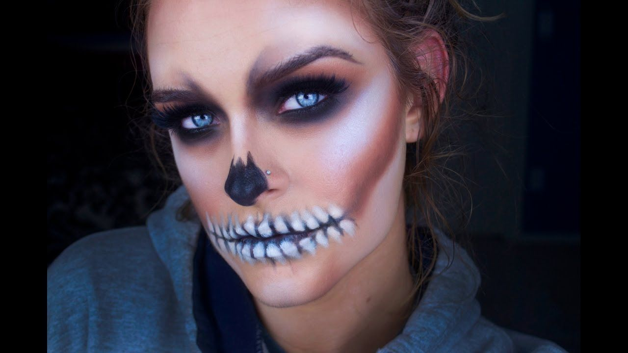 easy halloween skull makeup tutorial