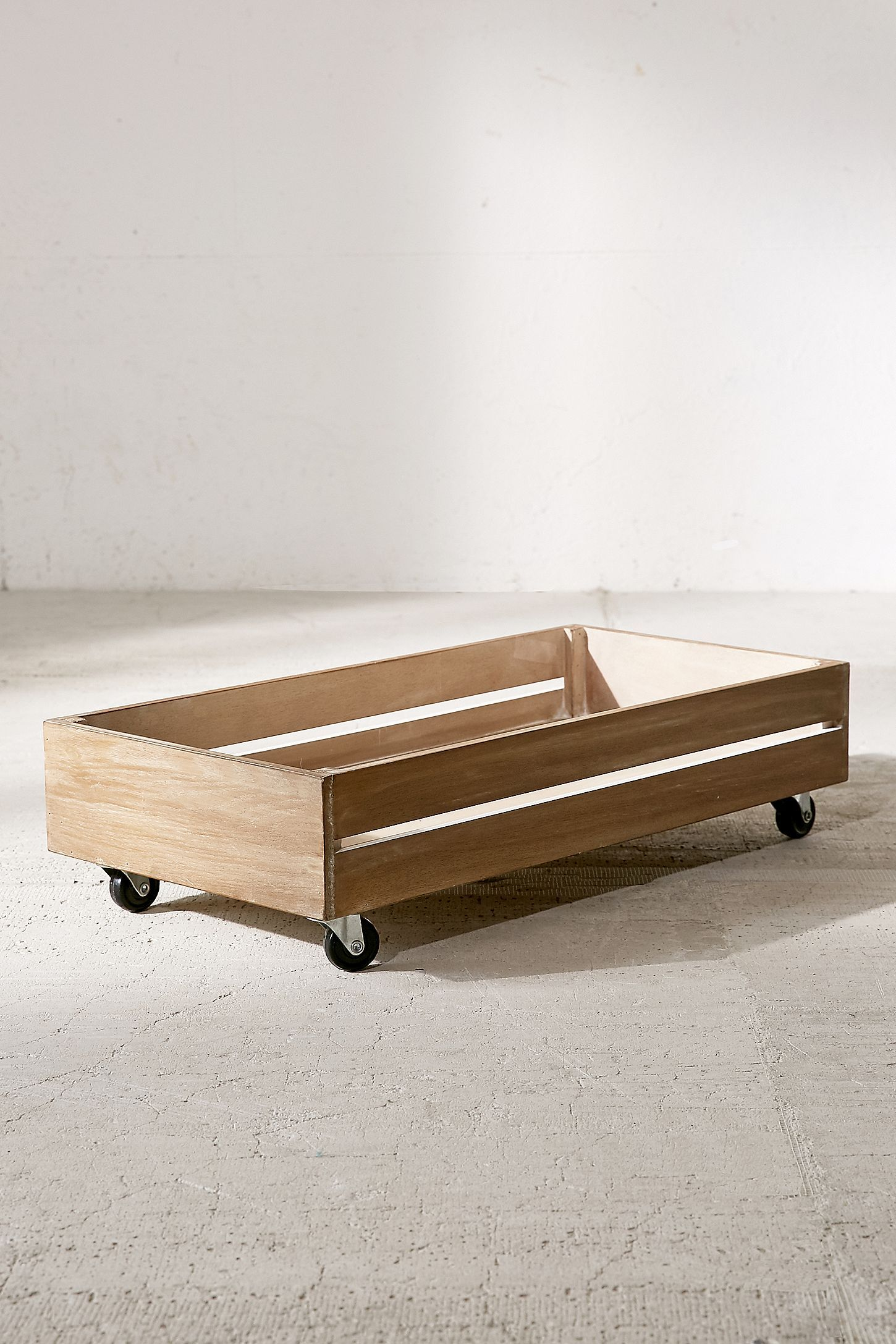 Under The Bed Rolling Wood Storage Box