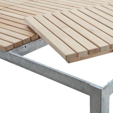 Gartentisch Betonauflage Gartentisch Holz Metall Gartentisch