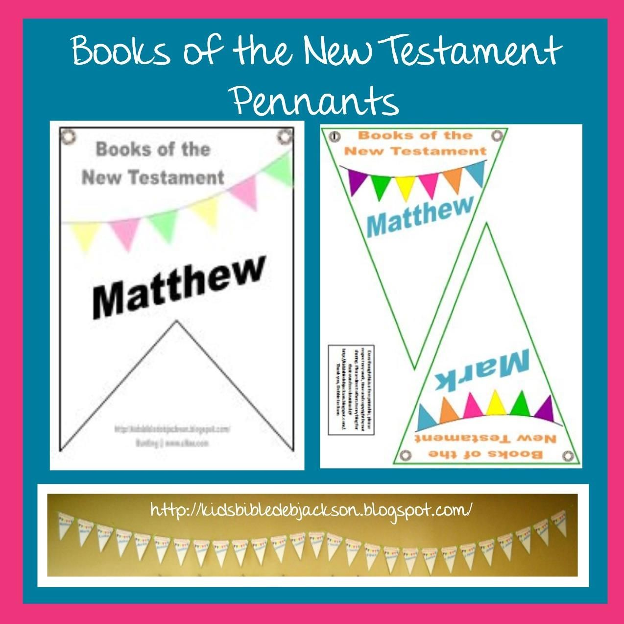 bible fun for kids books of the new testament pennants these