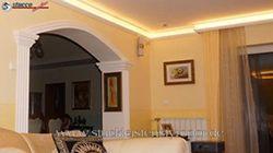 Wohnzimmer LED Beleuchtung Stuckleisten Styroporstuck