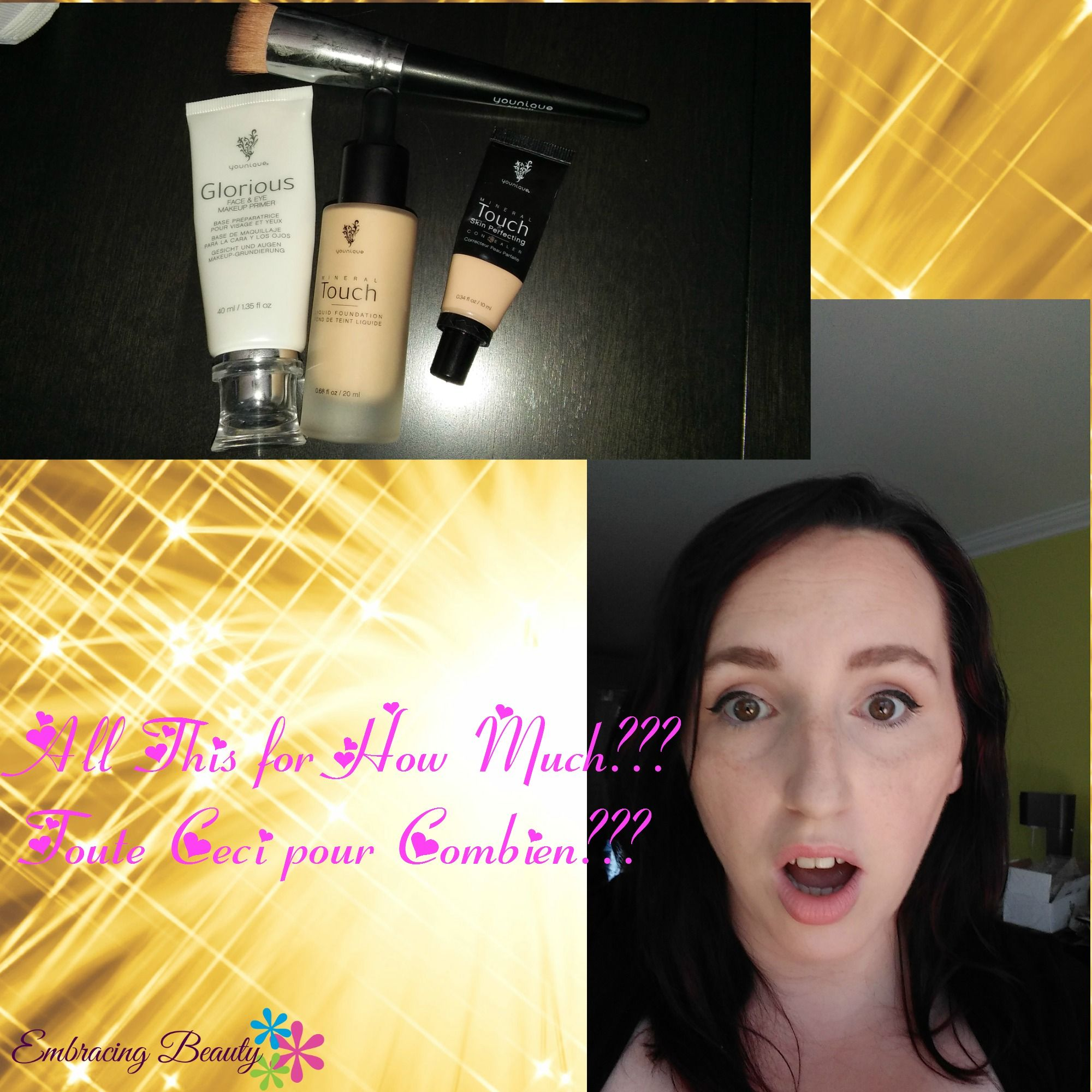 Oh wow! Not only do you get the primer, concealer and foundation at a lower price, but you also get a free liquid foundation brush!!   I love this stuff! Check my FB profile page for a live video I did. www.facebook.com/Kim.Willis.14