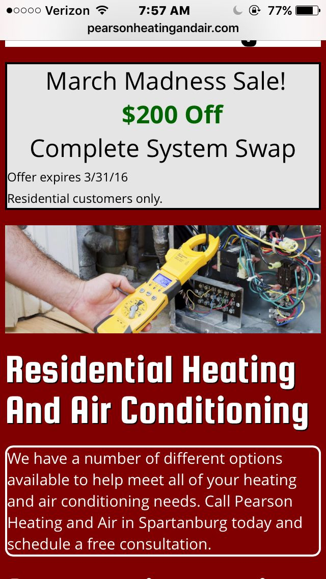 Looking for a heating and air conditioning team that