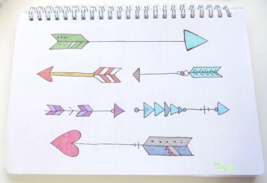 Dibujo de flechas con los rotuladores Mildliner