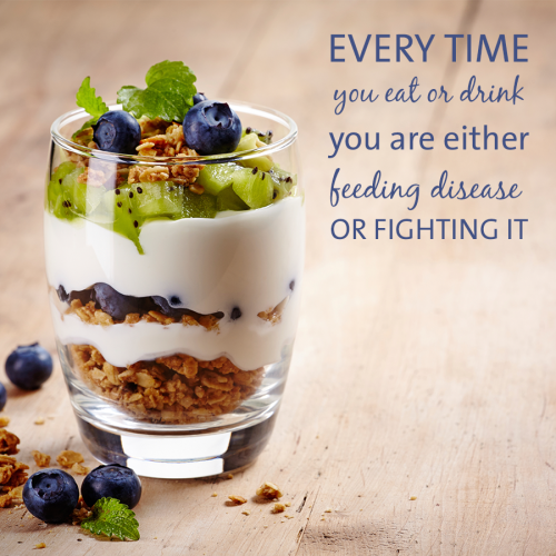 Every time you eat or drink you are either feeding...