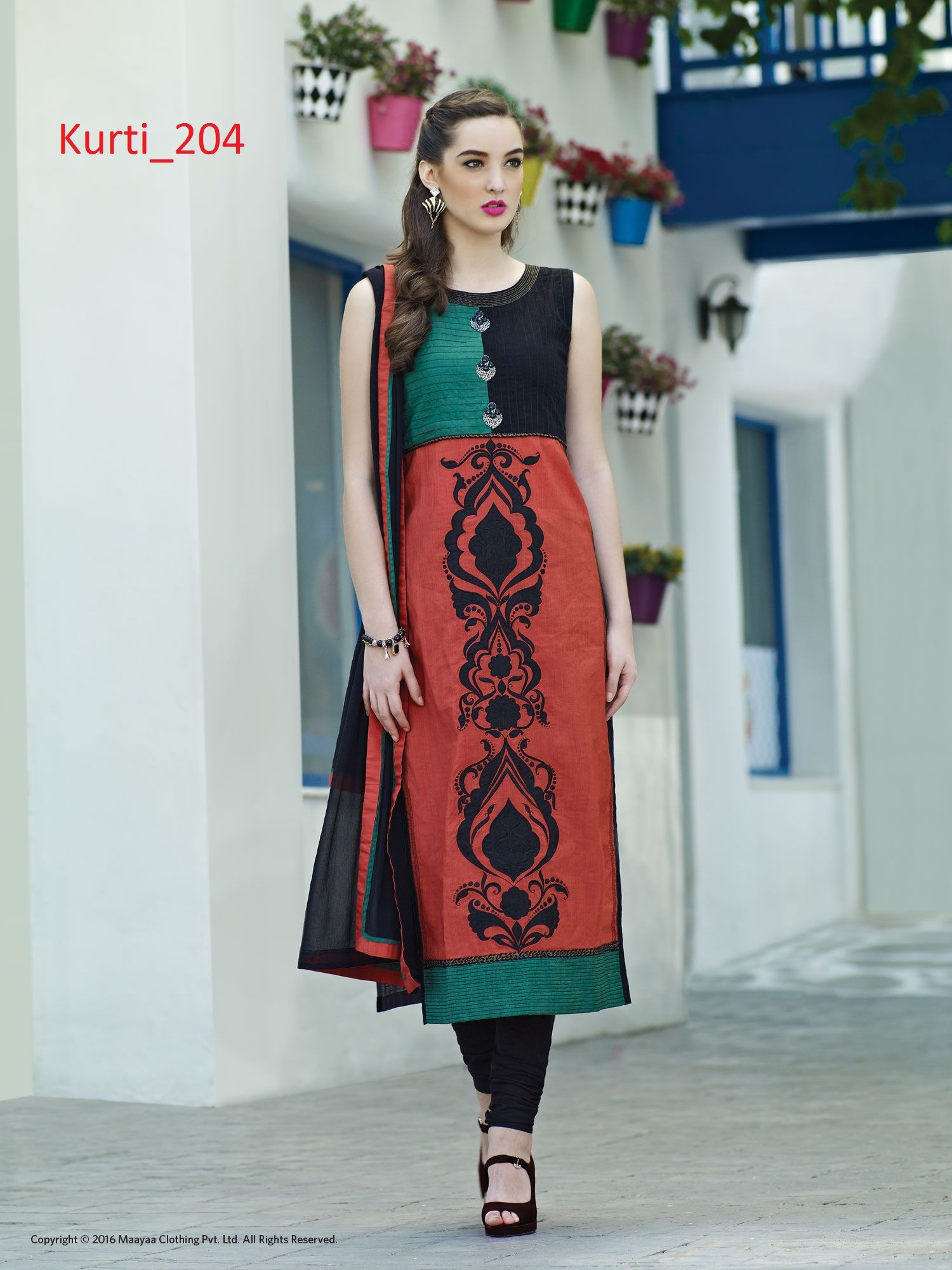 5f04450fb4e Buy  kurtis  designer  red  cotton  kurti online at  craftnshop ...