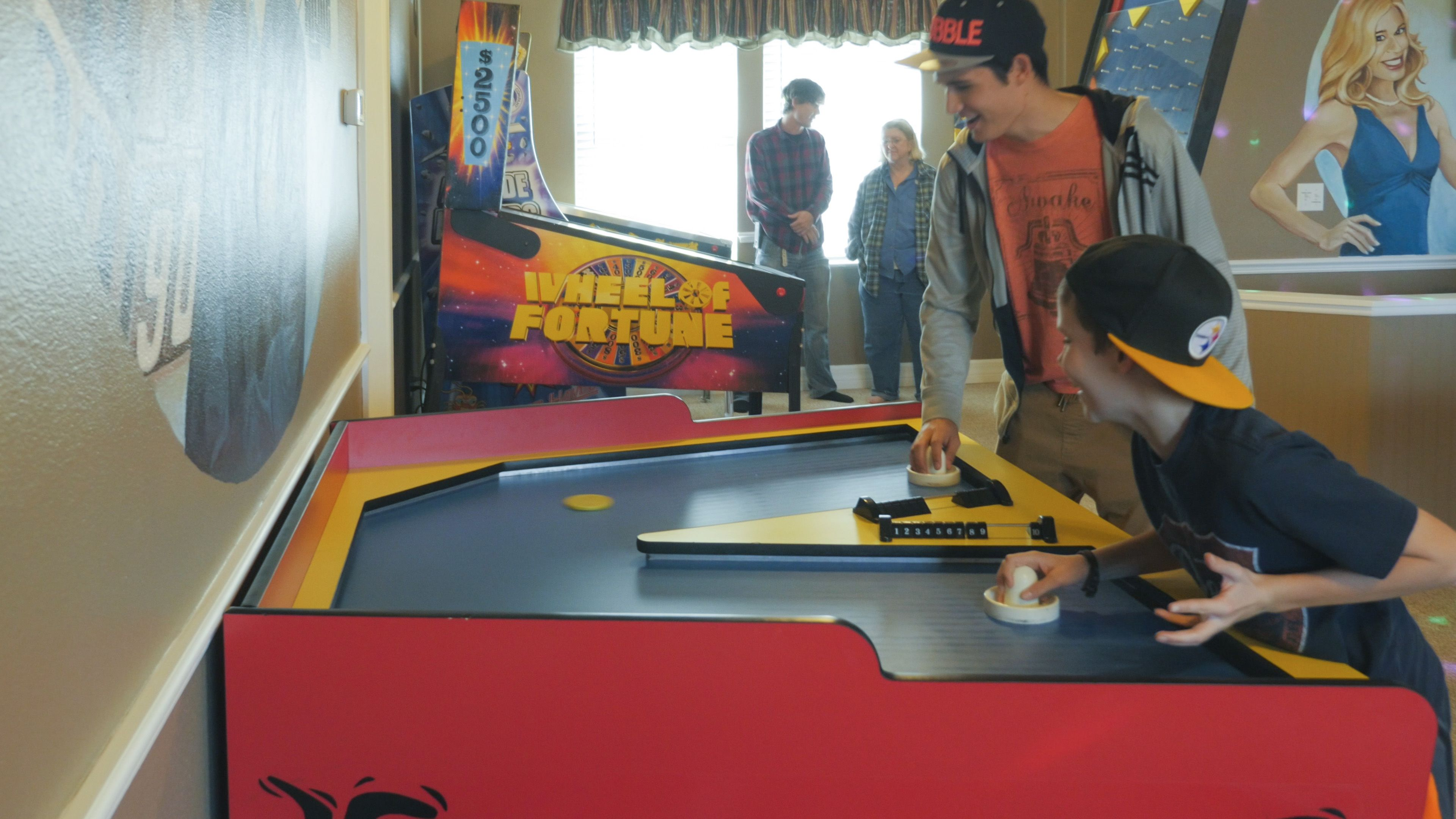 Boomerang air hockey at the great escape lakeside home for The great escape house