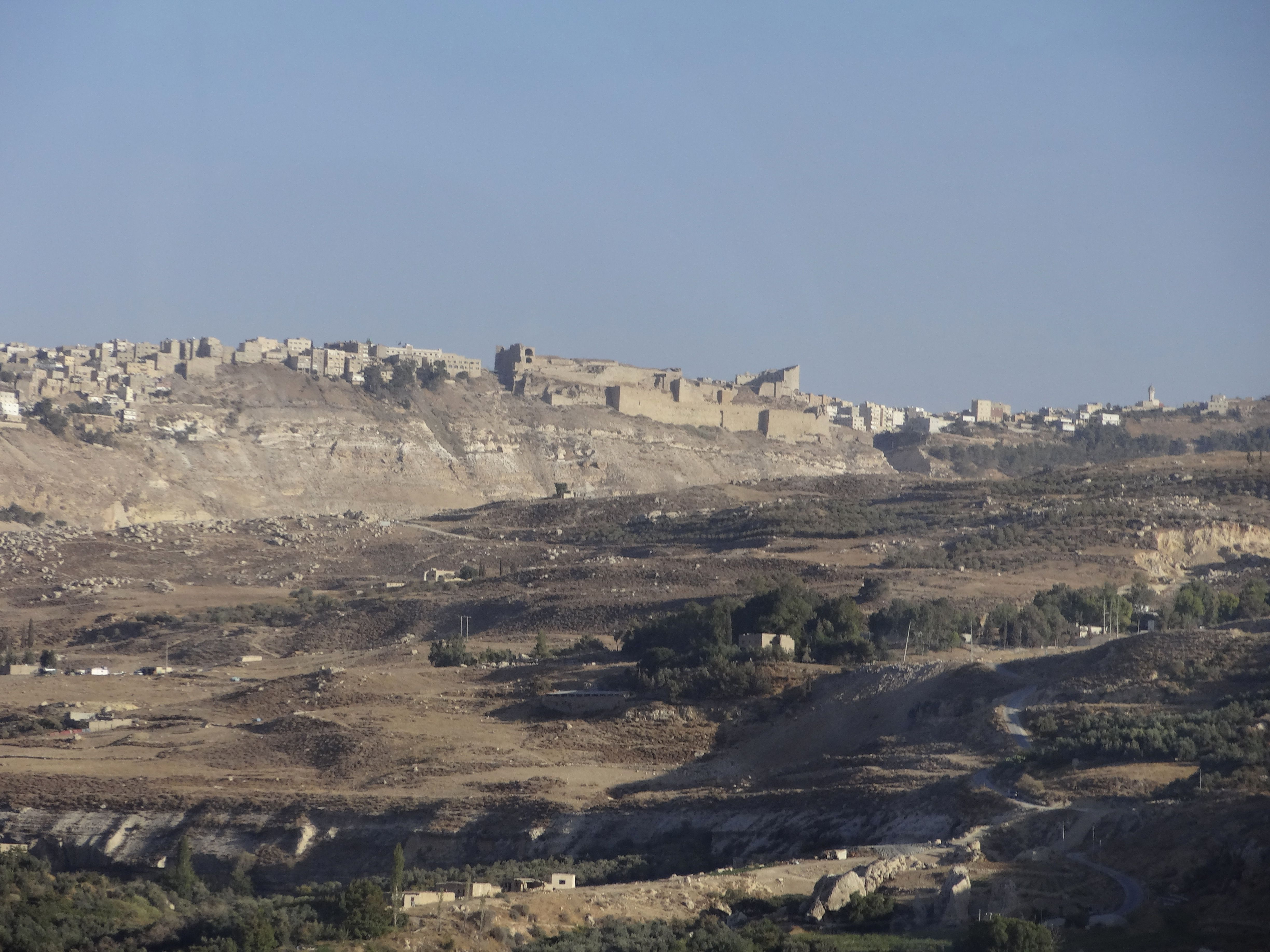 On The Hillside Is The Modern City Of Al Karak Jordan The Large Building In Middle Is Kerak Castle Which Was Built By The Crusaders Photo Brian Kaylor