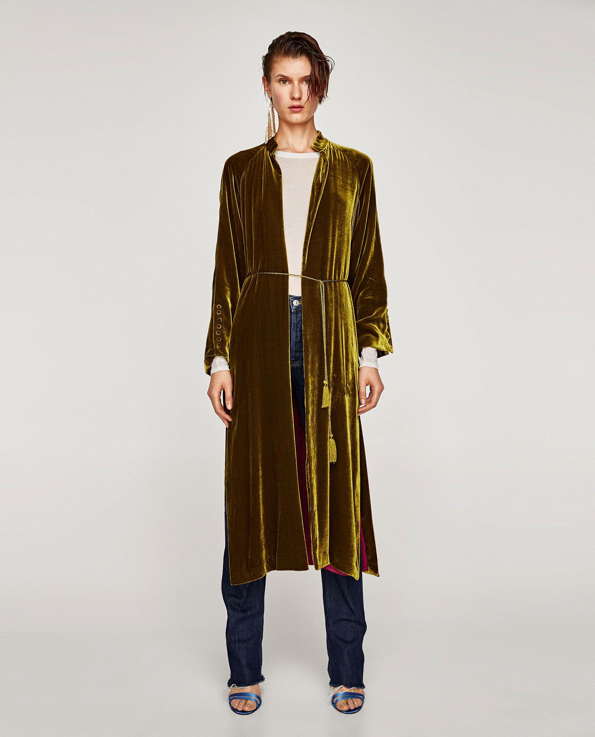 3d6751fc Image 1 of LONG SILK VELVET KIMONO from Zara | **Sewing** in 2019 ...