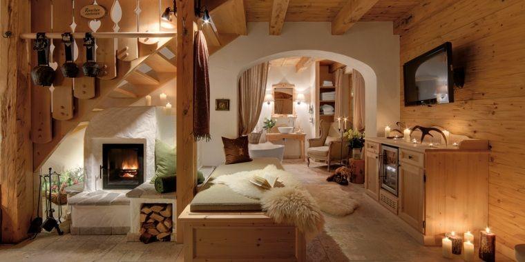 Décoration intérieur chalet montagne : 50 idées inspirantes | Rustic ...