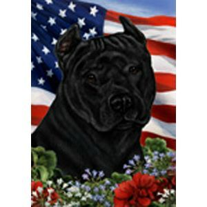 Our Tamara Burnett Patriotic Pit Bull Flag was created with the true pittie lover in mind! This patriotic indoor/outdoor flag features beautiful artwork by Tamara Burnett and is made to last. Choose f