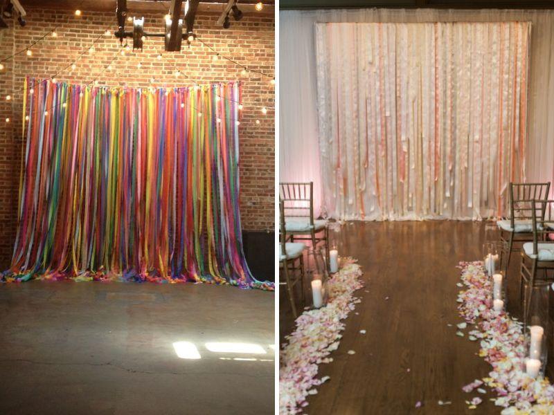 Ribbon Wall 31 Best Wedding Decoration Ideas Everafterguide