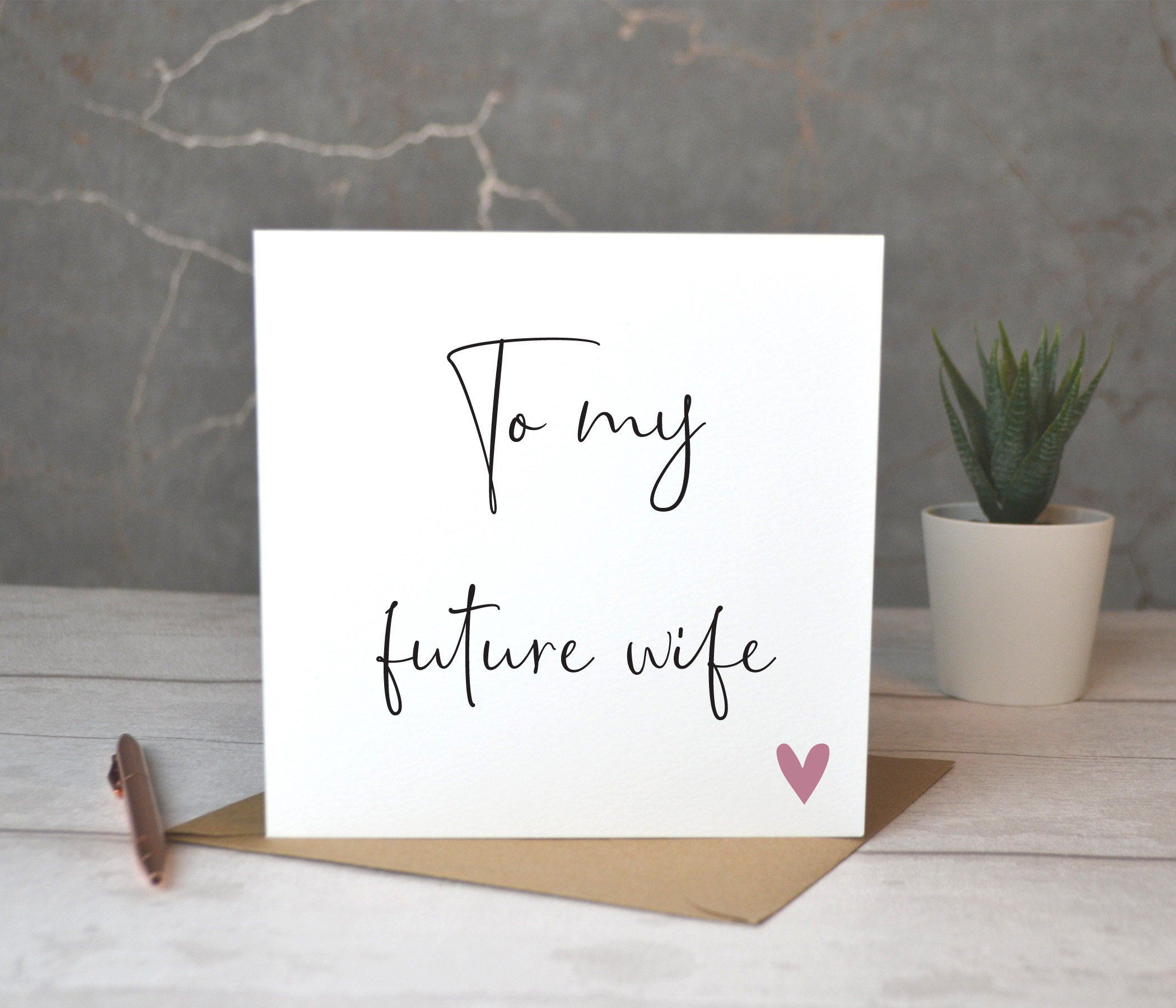 To My Future Wife Card, Bride Card, Card For Bride On