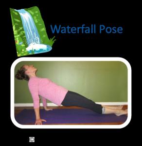 waterfall pose yoga card  kids yoga themes yoga for kids