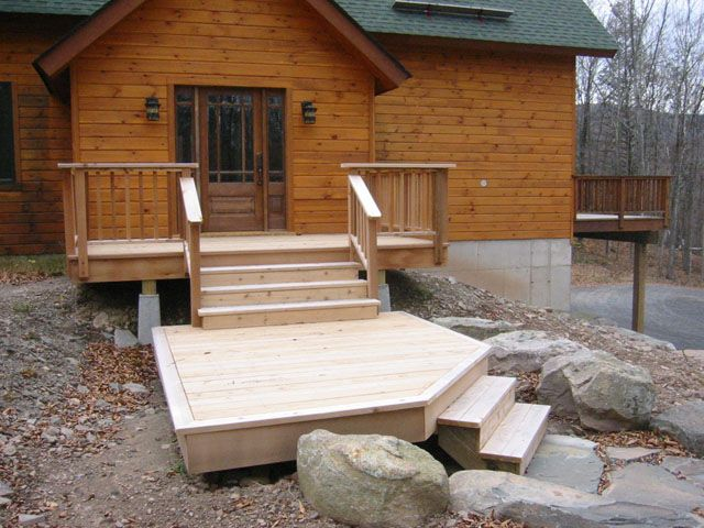 Front Door Deck Ideas The Required A Multi Level Solution To Join Series