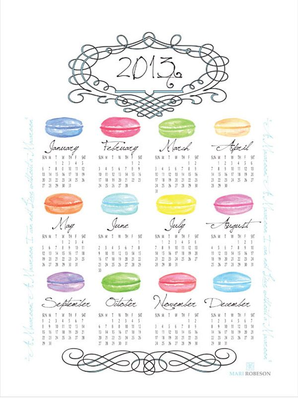 Get Ready 2013: Calendars Part 2 | IAMTHELAB | Your Handmade Laboratory