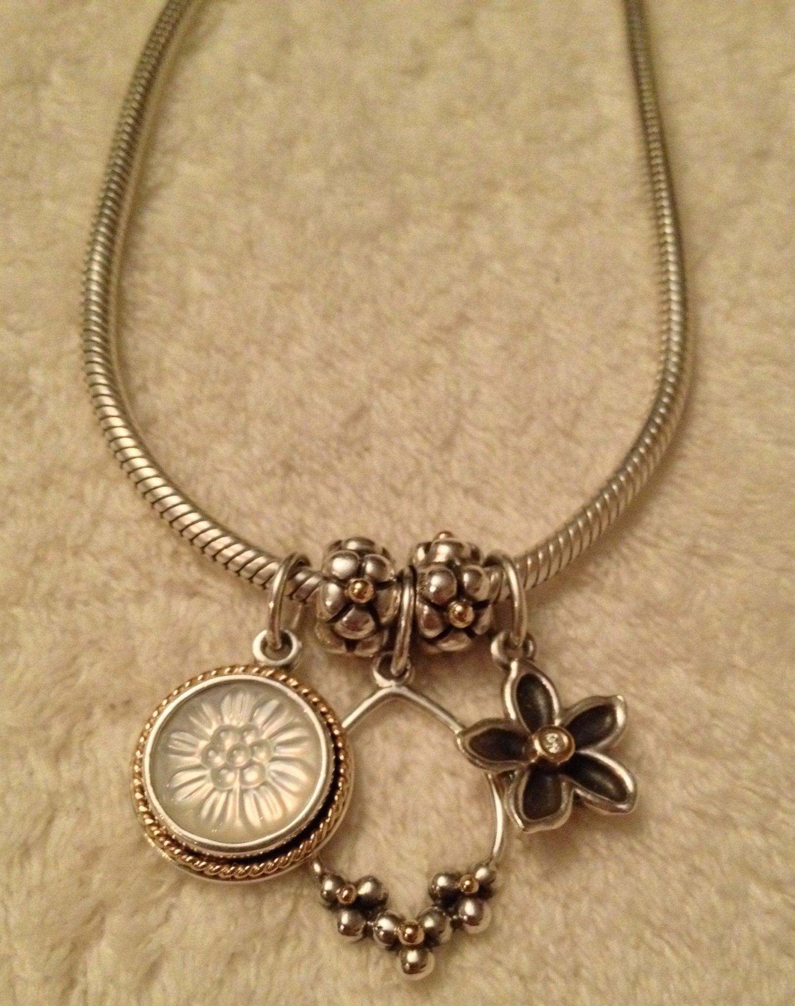 Pandora Necklace With Pretty Dangles Pandora Jewellery
