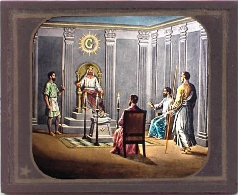Masonic magic lantern slide