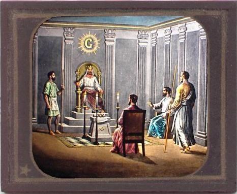 Masonic magic lantern slide