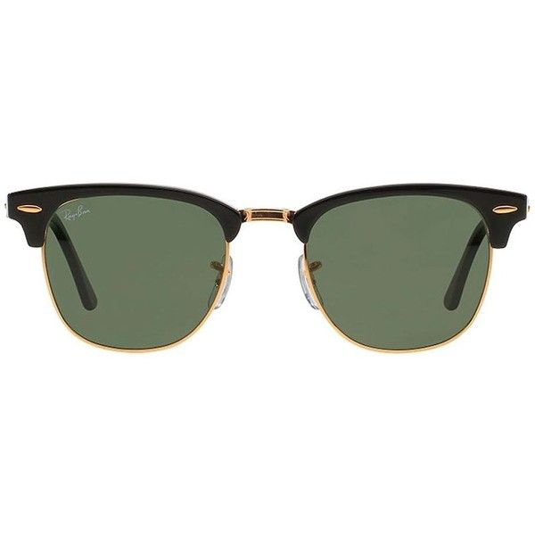 Ray Ban Óculos de sol unissex modelo  Clubmaster  Sunglass Hut (6,875 PHP)  ❤ liked on Polyvore featuring accessories, eyewear, sunglasses, ray ban ... d5c16c9f67