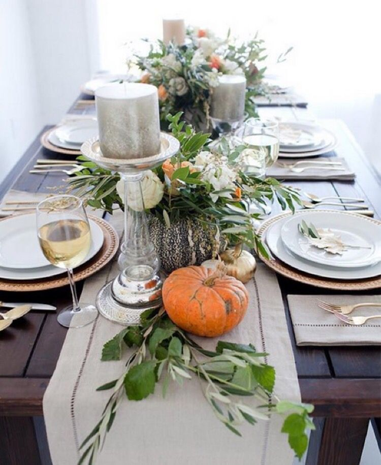 Fall table setting & Fall table setting | creating that cozy feeling: home | Pinterest ...