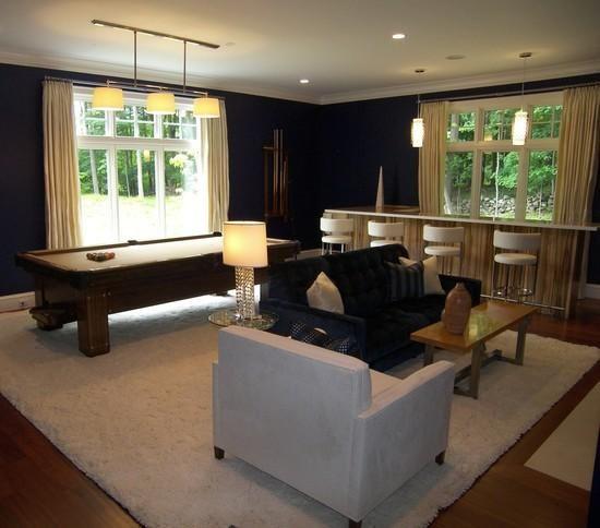 Kirsten Remmers Blunck Design: classy billiards room.