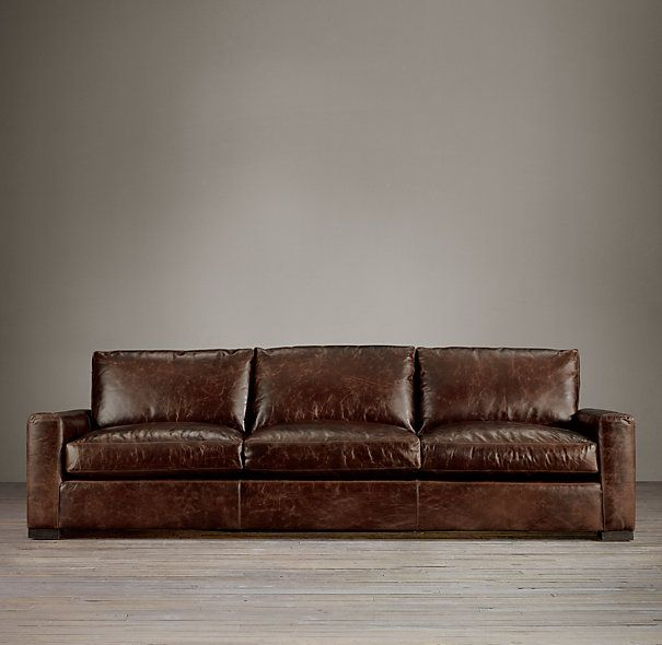 Maxwell Leather Three Over Three Sofas Sofas Restoration