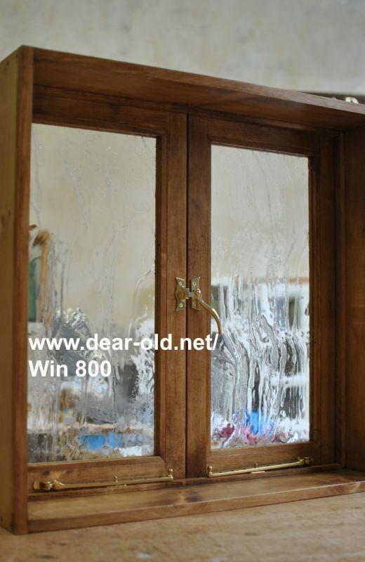両開き窓 サイズ H700 W735 D100 150 受注製作 ガラスを選べる