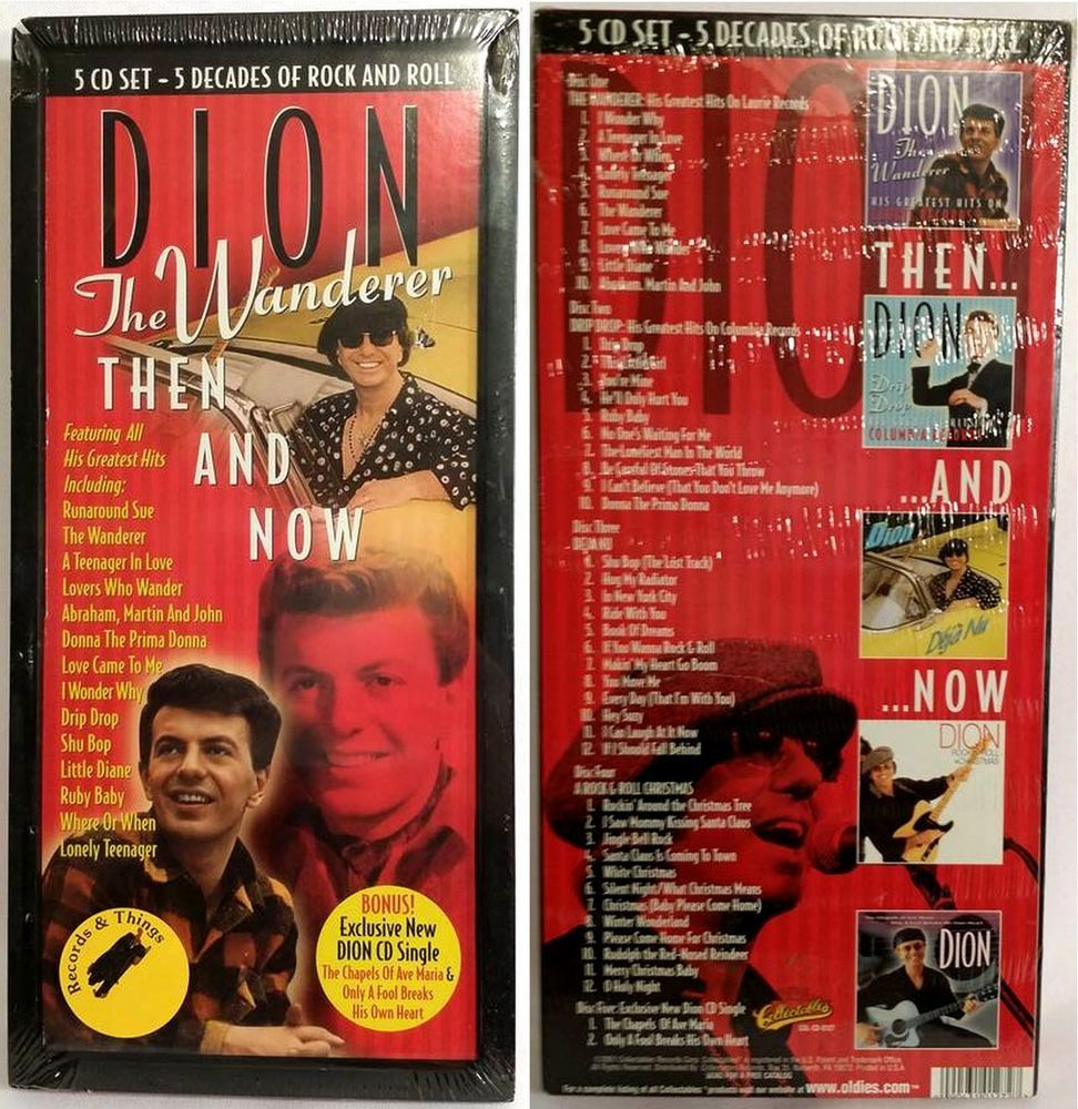DION The Wanderer Then & Now 5CD Set 5 Decades of Rock&Roll - NEW/Factory Sealed #DooWop
